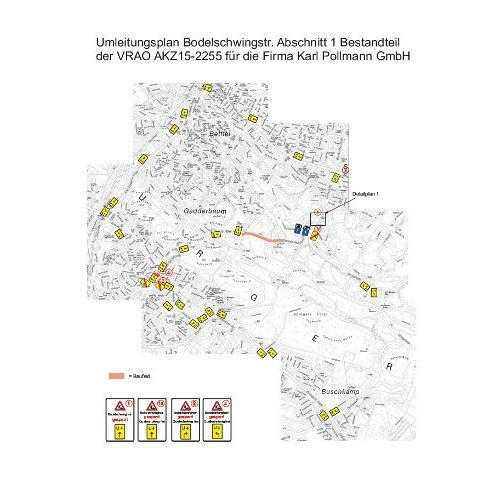 Umleitungsplan Bodelschwinghstraße 1